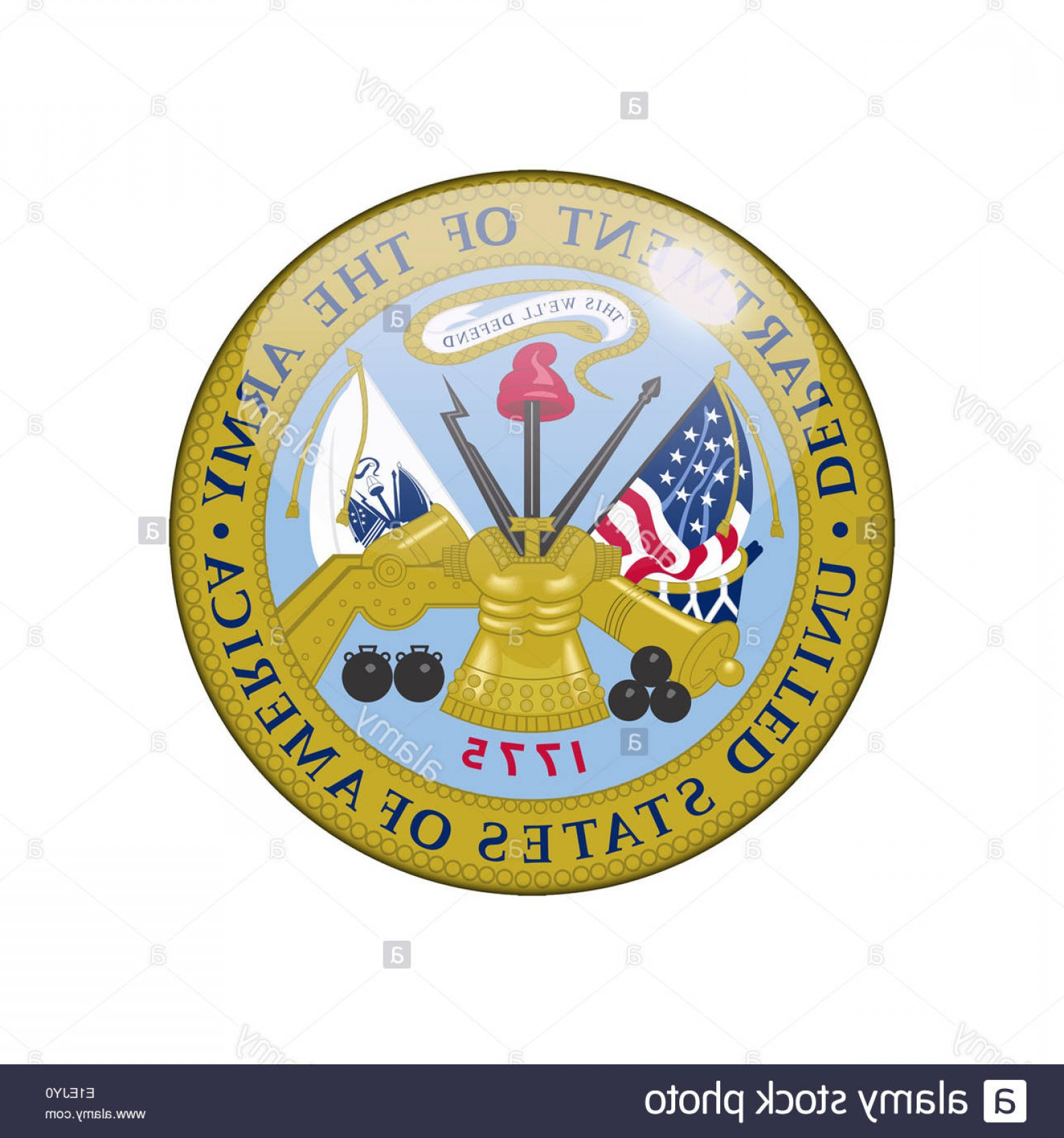 United States Armed Forces Logo Vector: United States Army Icon Logo Isolated App Button Image