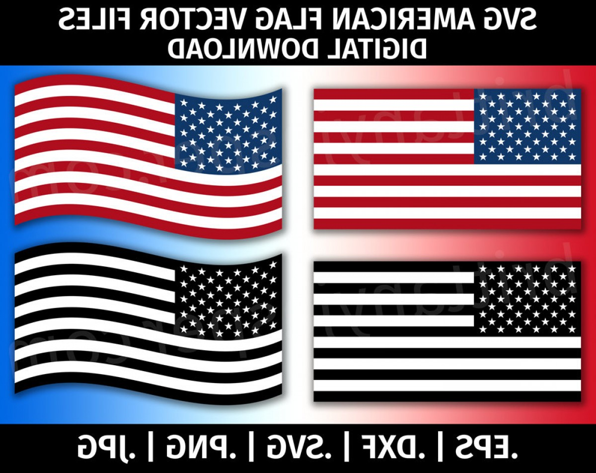 Distressed Flag Vector Digital: United States Of America Flag Svg Vector