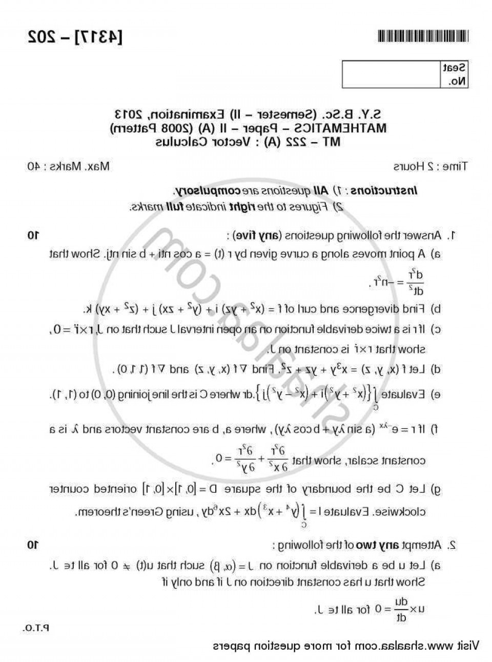 Calculus 3 Vectors: University Of Pune Bachelor Bsc Vector Calculus Semester Sybsc