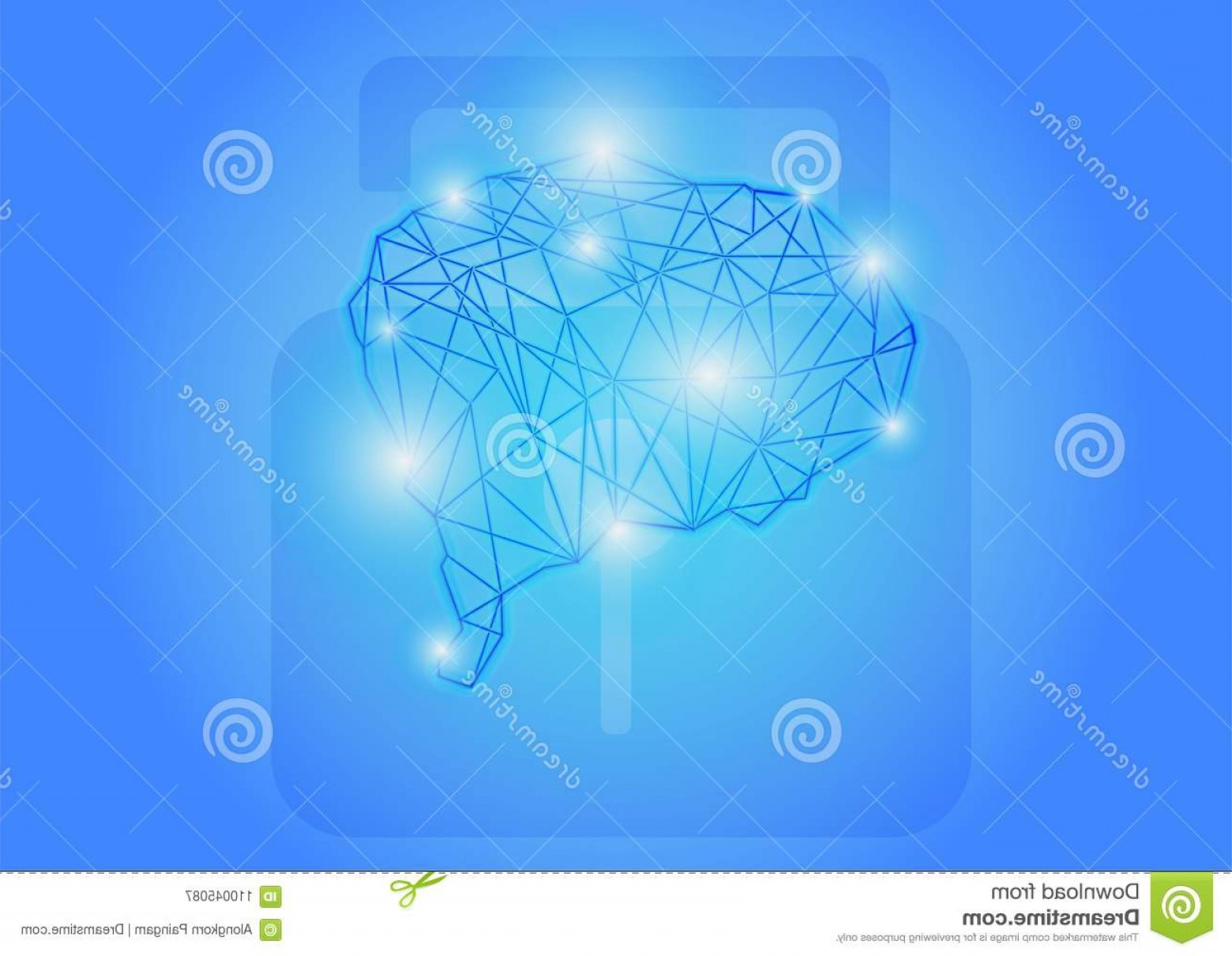 Open VI Stock Vector: Unlock Brain To Infity Knowledge Successful Open Vi Vision Think Way Success Sampletext Copyspace Image
