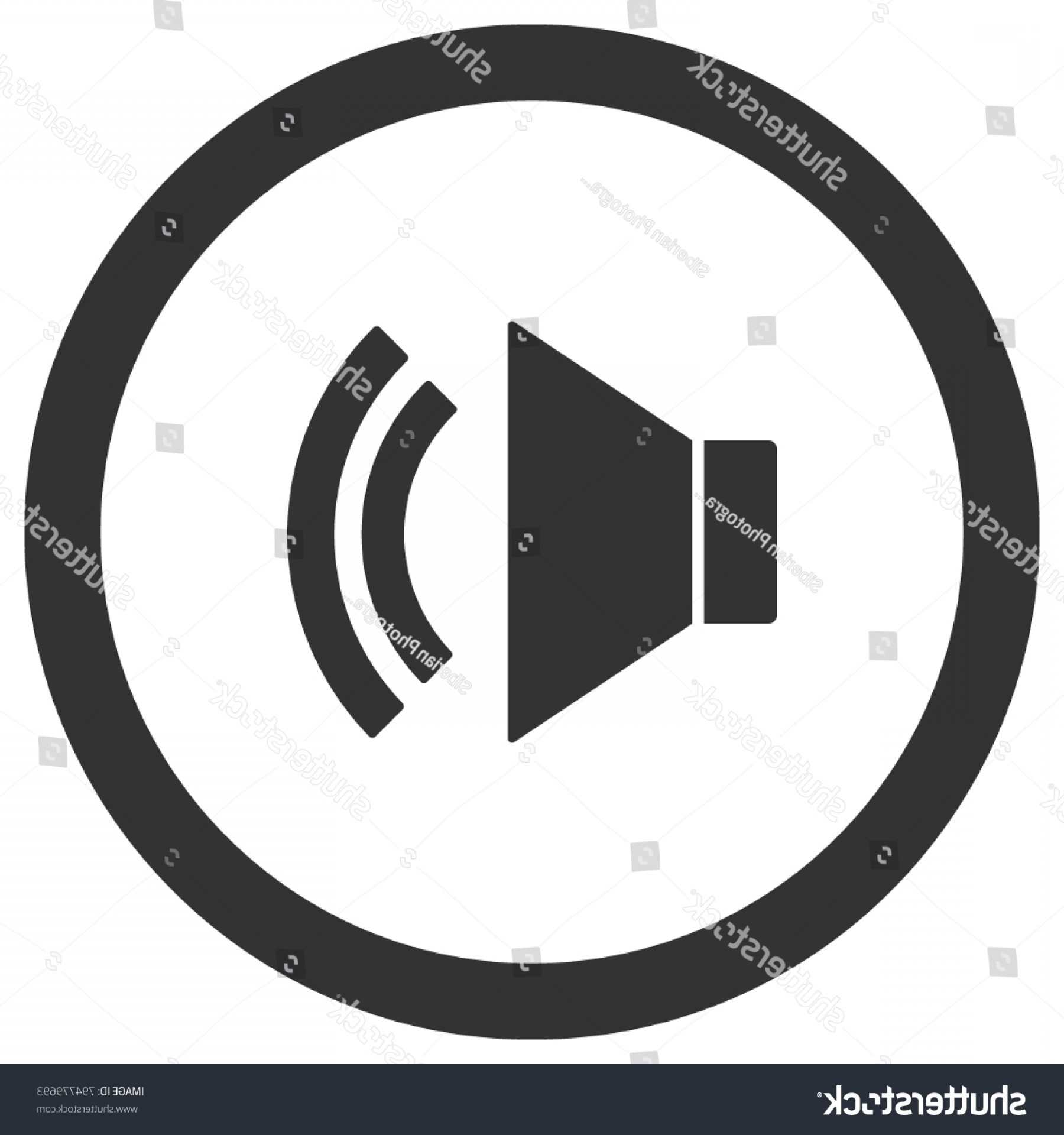 Volume Button Vector: Unmute Icon Circle Sound On Volume