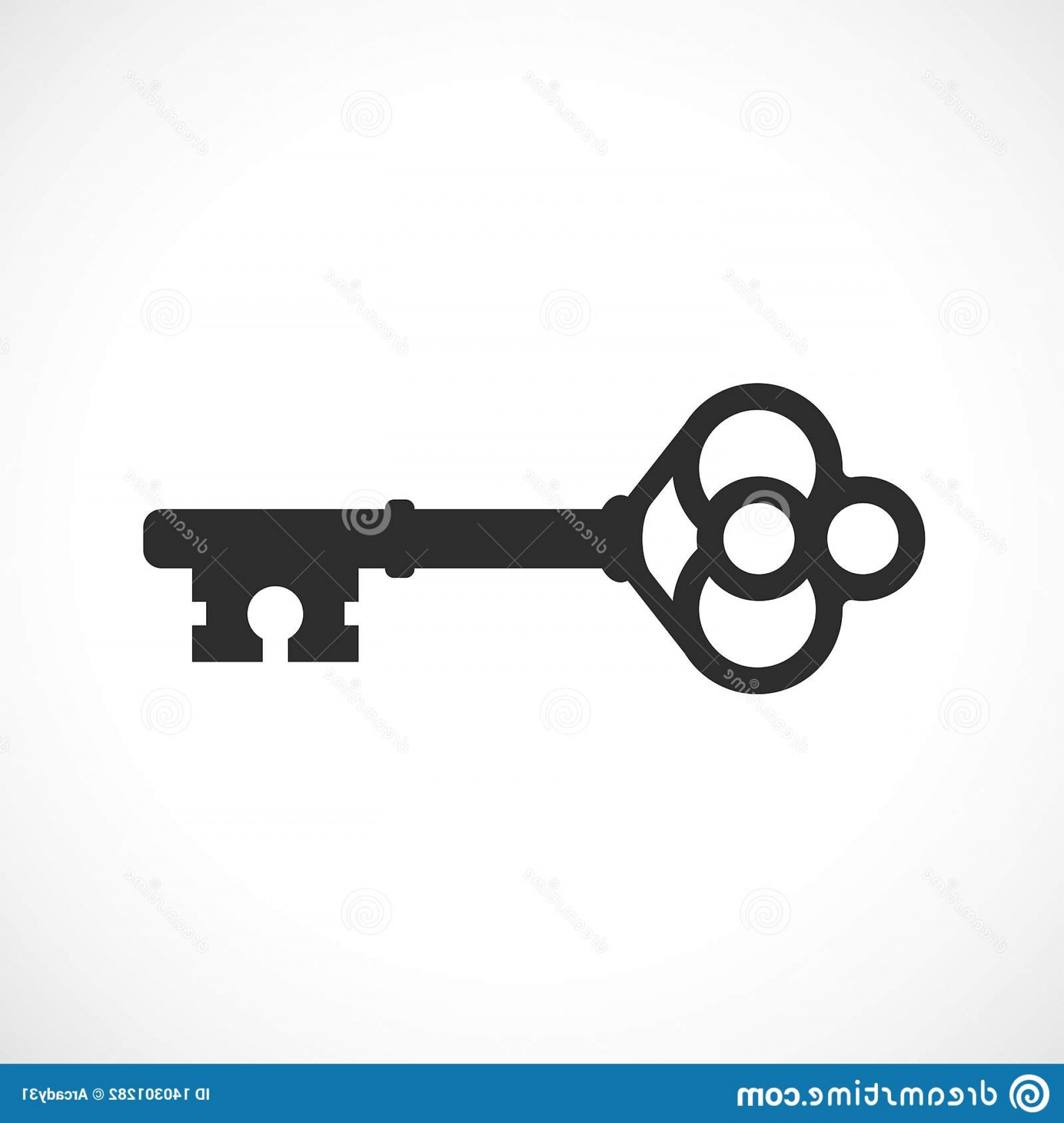 Old Key Vector: Untitled Old Key Vector Icon Image