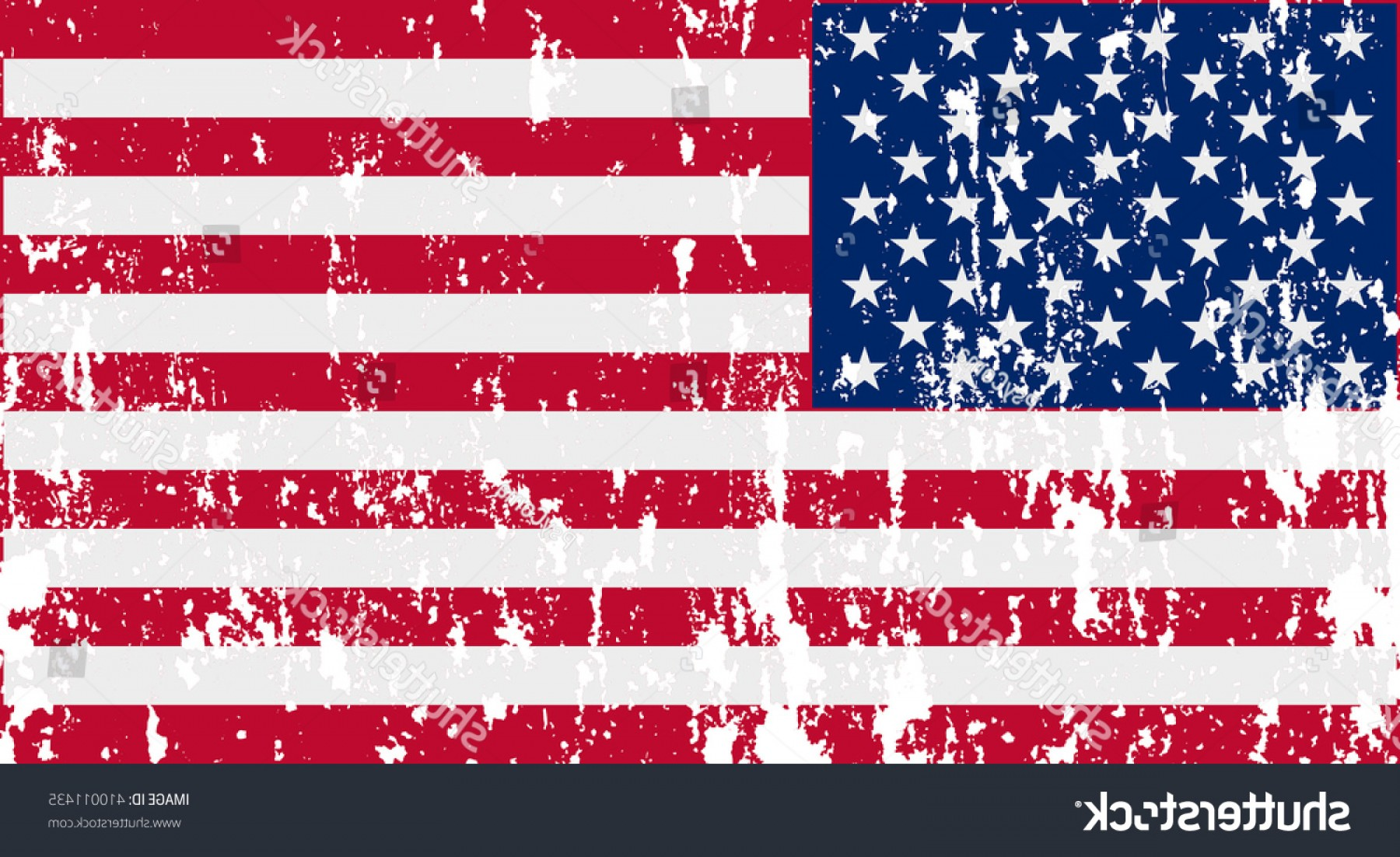 Rustic American Flag Vector: Unusual Usa Flag Vector Image