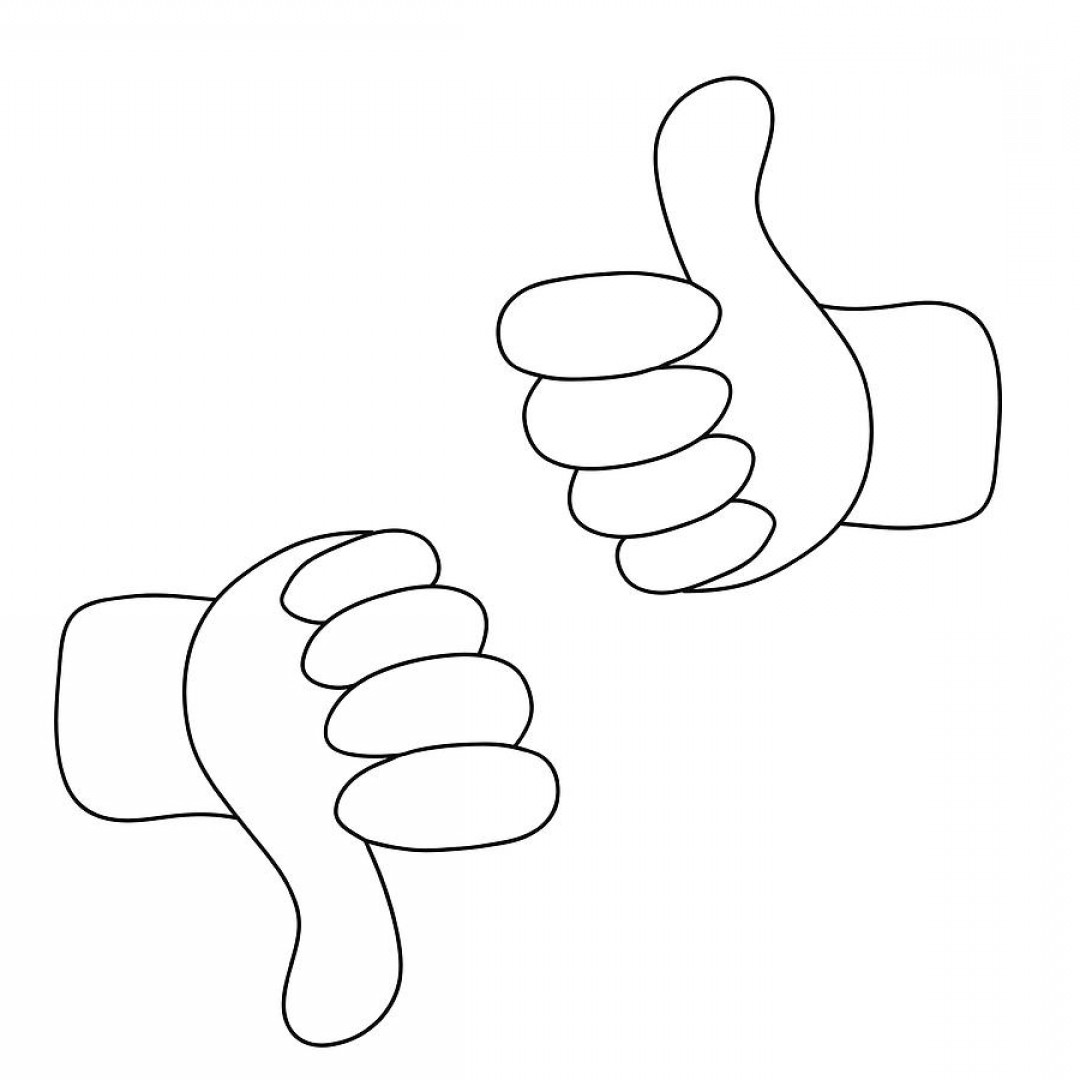 Vector Thumbs Up Down: Up And Down Hands Vector Thumbs Up And Thumbs Down Like And Dislike Icon Photostella