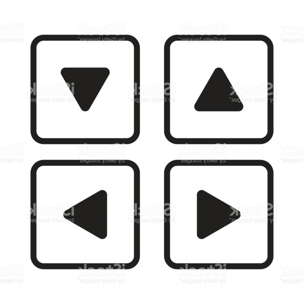 Up And Right Arrows Vector: Up Down Left Right Arrow Button Set Isolated Vector Transparent Gm