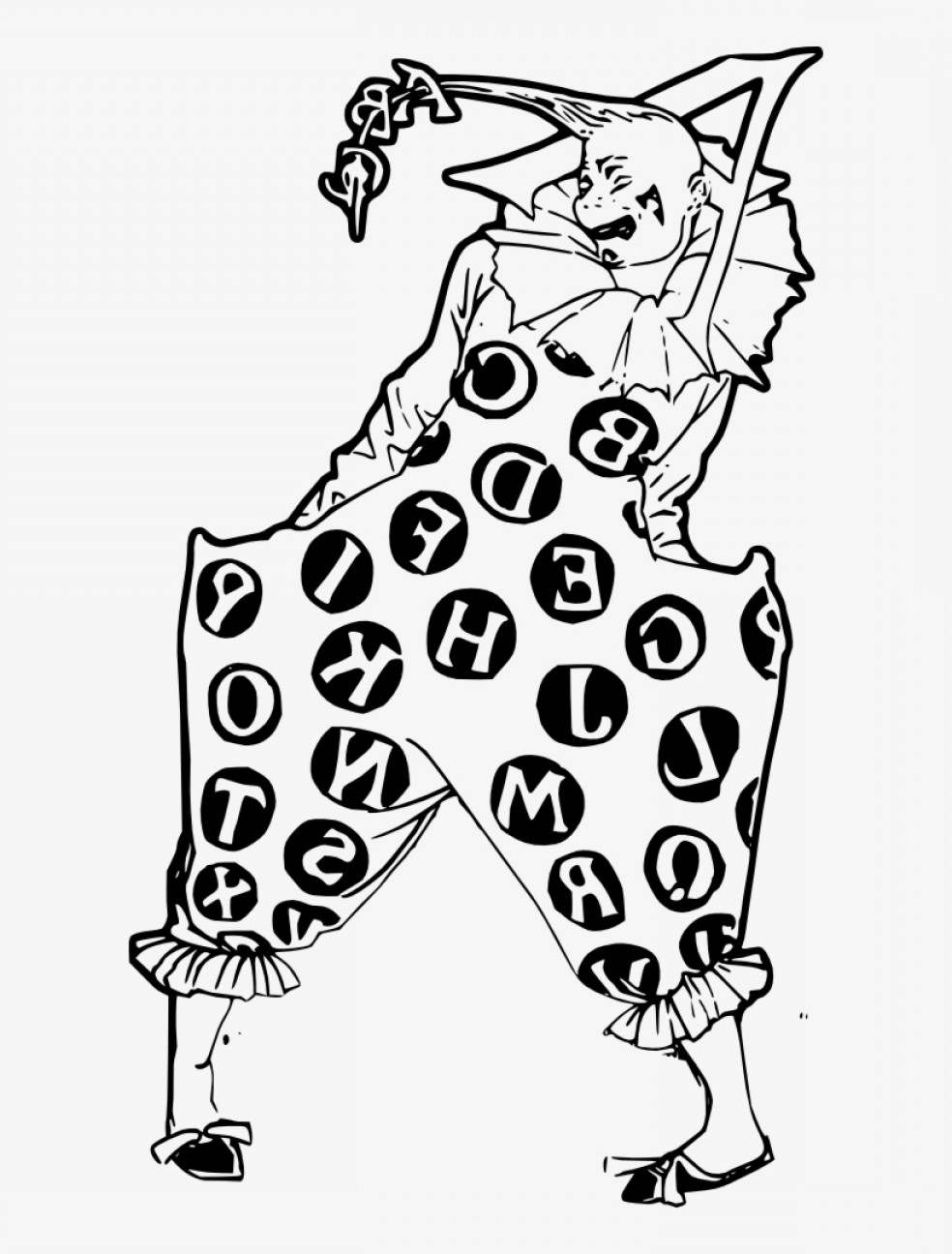Pennywise Clown Vector: Uqquwuwqfree Vector Creepy Alphabet Clown Clip Art Creepy