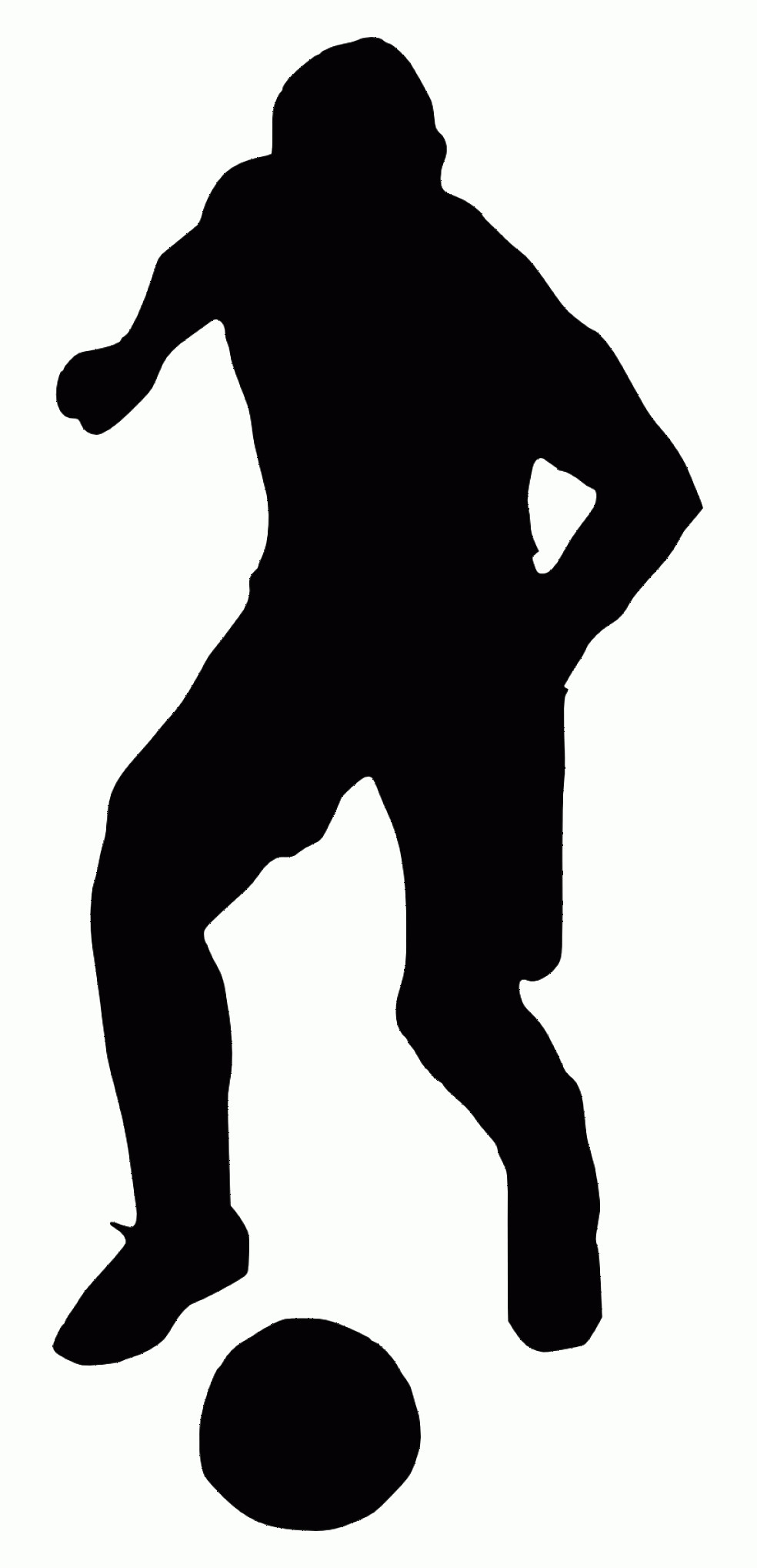 Football Laces Vector Silhouette: Uqwouqyrfree Png Football Player Silhouette Png Images Transparent