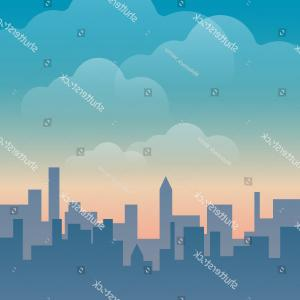 Urban Designs Vectors: Urban Silhouetteraster Vectors Nice Colour Design