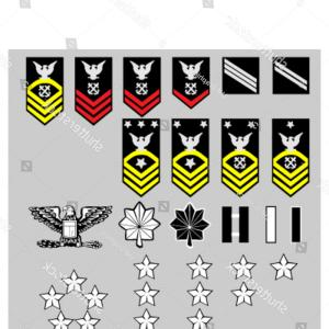 U S. Navy Logo Vector: Us Navy Rank Insignia Officers Enlisted