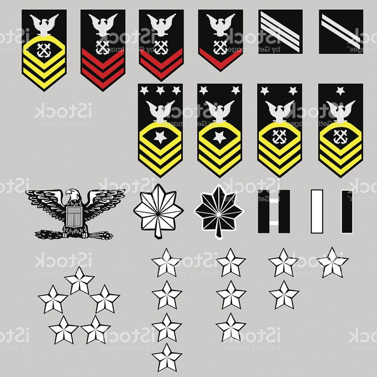 U S. Navy Logo Vector: Us Navy Enlisted And Officer Rang Insignia In Vector Format Gm