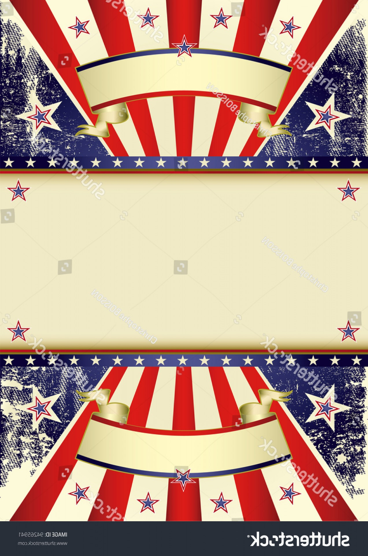 Distressed Flag Vector Digital: Usa Distressed Flag Patriotic Background Frame