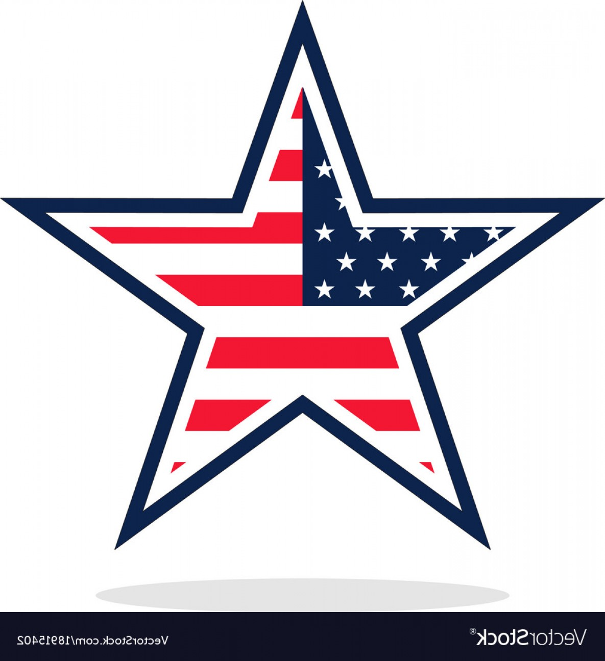 Texas Tech Logo Vector Graphic: Usa Flag Star Logo Vector