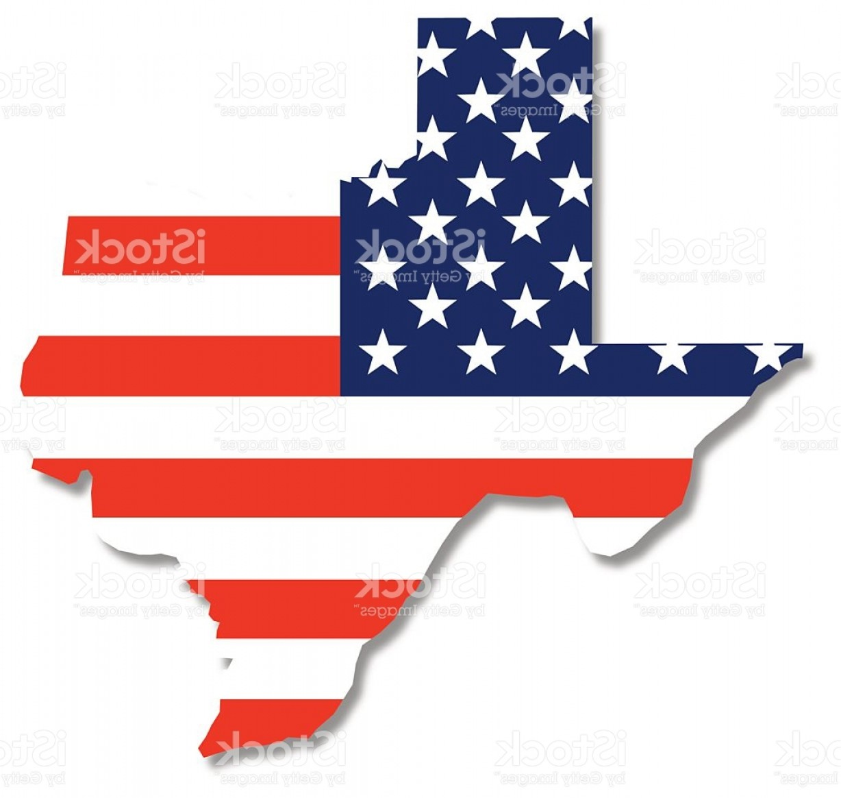 Texas Flag Vector Art: Usa Flag Texas Map Gm