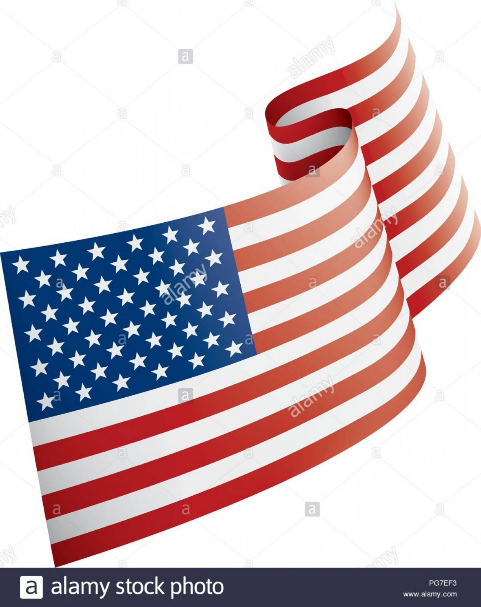 Rustic American Flag Vector: Usa Flag Vector Illustration On A White Background Image