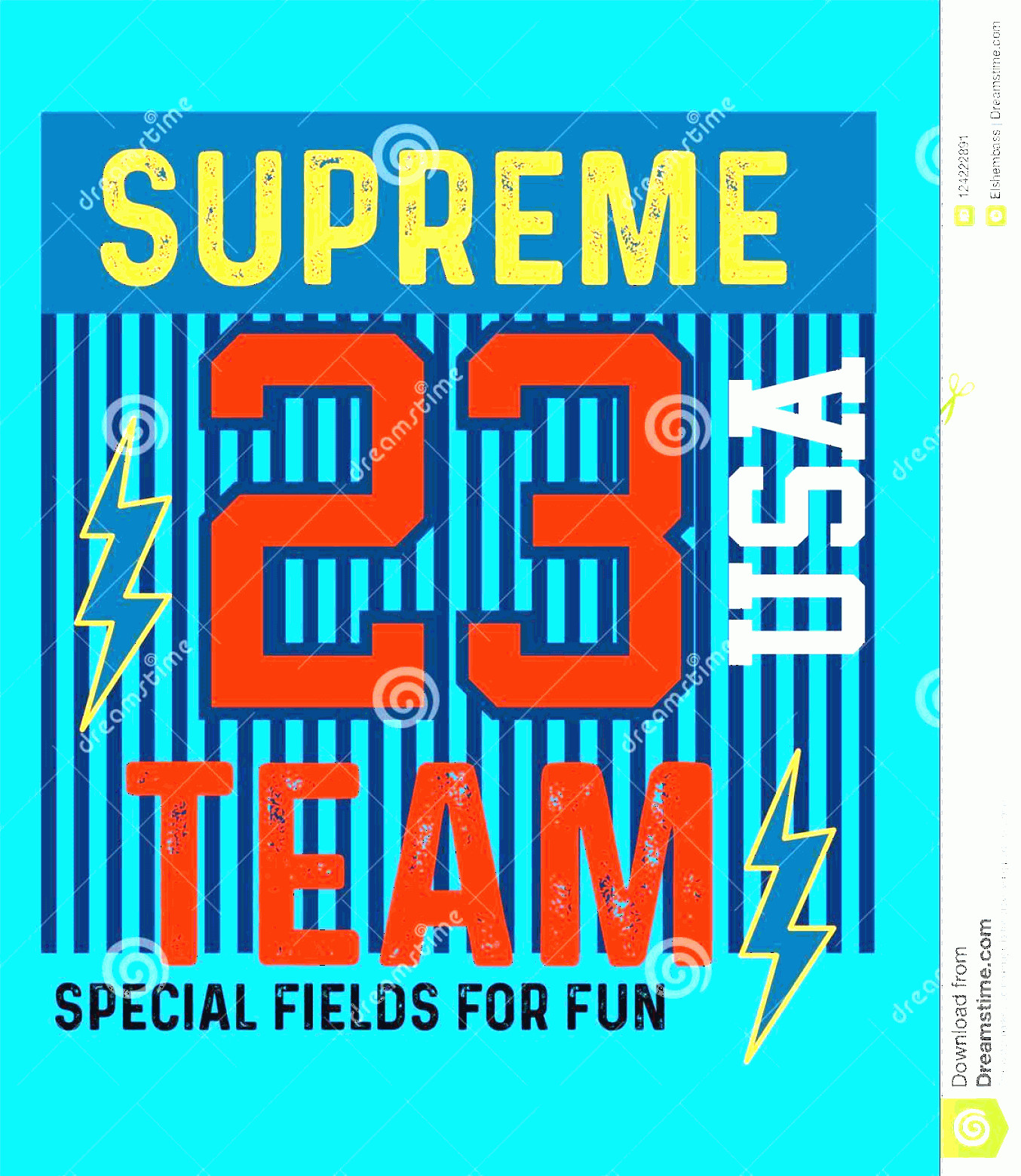 Supreme Vector T-shirt: Usa Supreme Team T Shirt Design Vector Illustration Cool Kids Boys Made Creativity Love Image