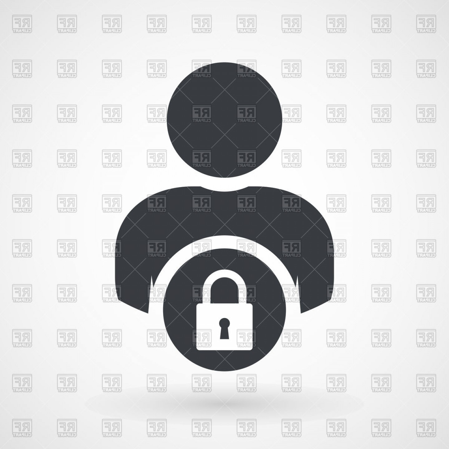 User Icon Vector Free: User Login Or Access Authentication Icon Vector Clipart