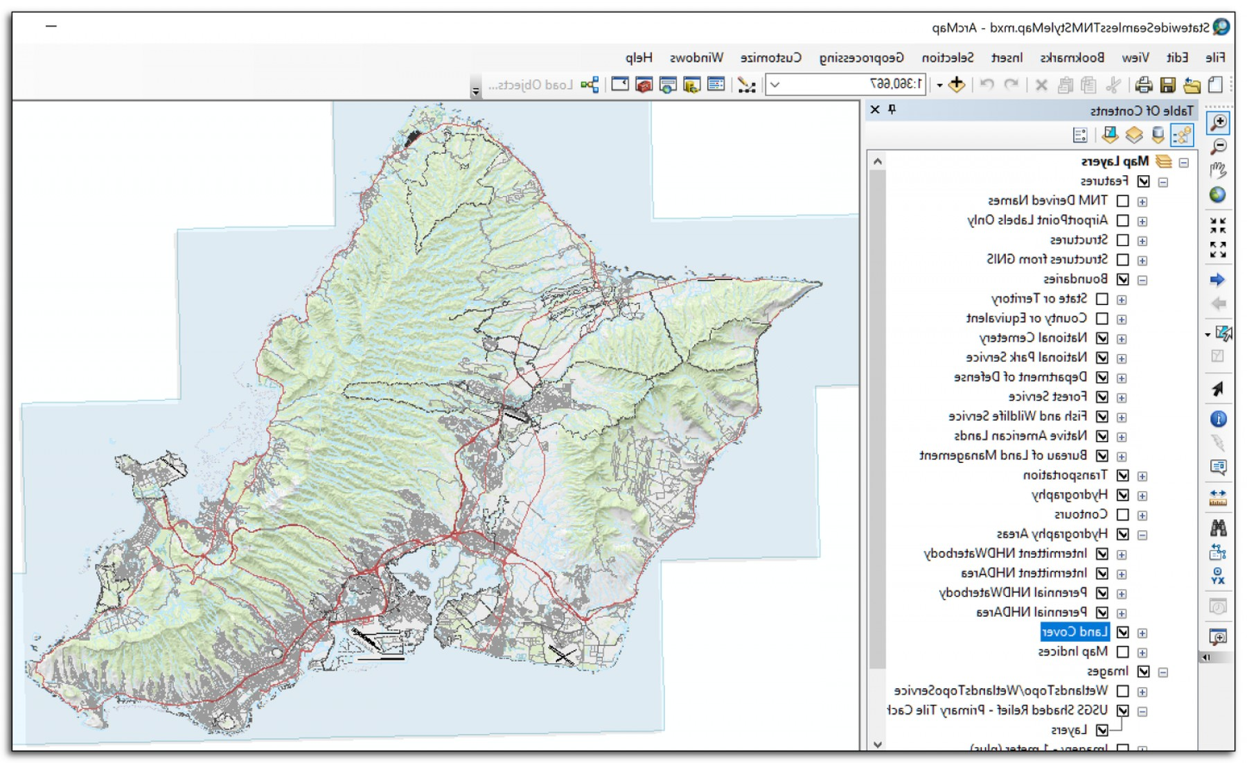 Adding Vectors Lab Map: Using Usgs Tnm Vector Data To Create Topographic Maps In Arcgis