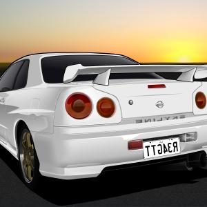 Cars Skyline Vector: Nissan Skyline Gt R Vector