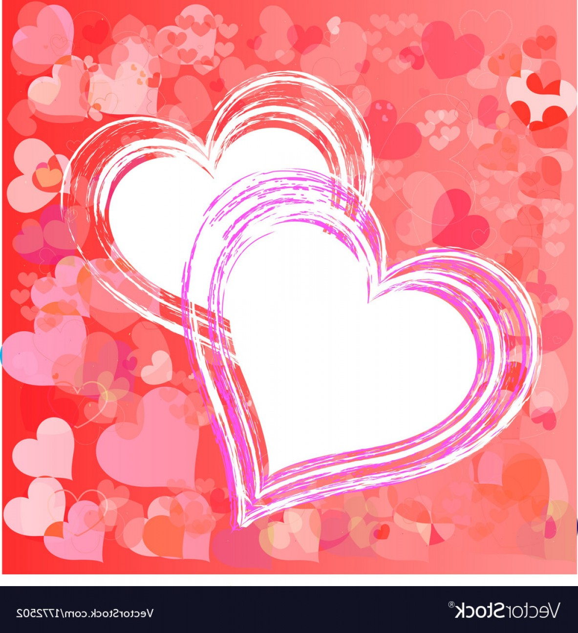Heart Card Vector: Valentines Day Paper Heart Card Vector