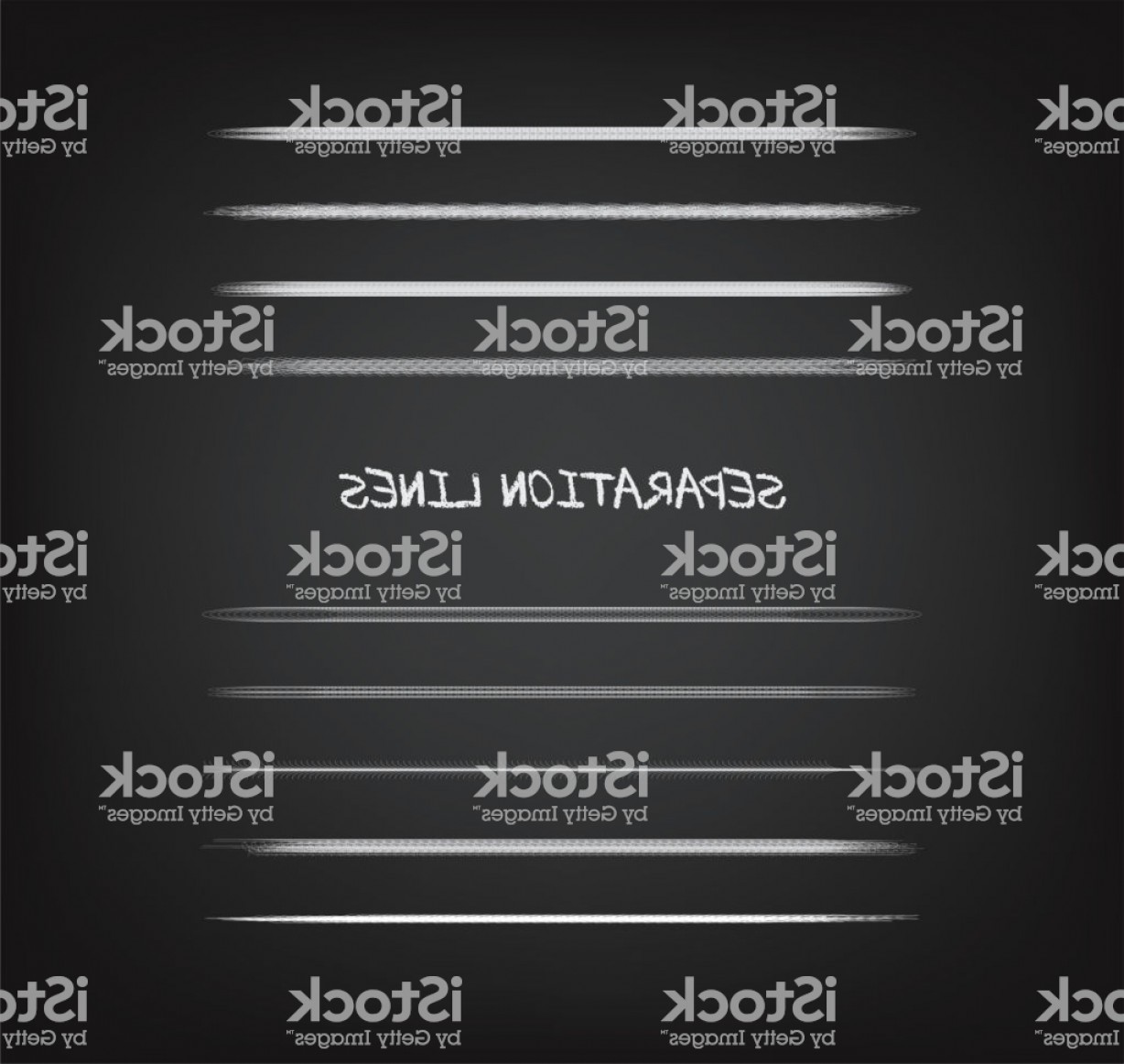 Chalk Lines Vector: Various Grunge Chalk Lines Gm