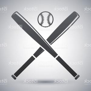 Vector Baseball Cross: Golden Stacked Bat Cross Pendant With Chain Necklace