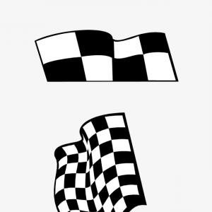 Black And White Vector Racing Graphics: Black And White Checkered Racing Flag Vector Clipart
