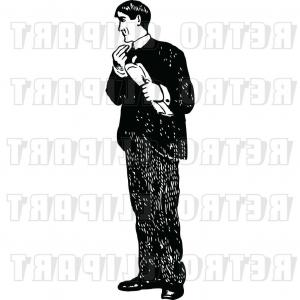 Newspaper Clip Art Vector: Vector Clip Art Of Retro Guy Holding A Newspaper By Prawny Vintage