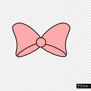 Pink Bow Vector Black: Vector Clipart Of A D Pink Valentines Day Gift Bow And Ribbon Dividing Flares And Black Copyspace By Kj Pargeter