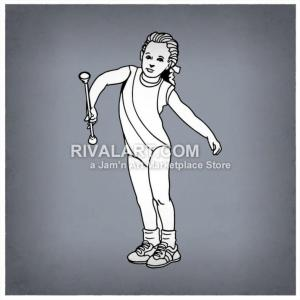 Baton Twirler Vector: Vector Clipart Of A Little Girl Baton Twirler