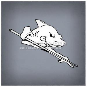 Shark Vector Holding: Vector Clipart Of A Pool Shark Holding A Cue