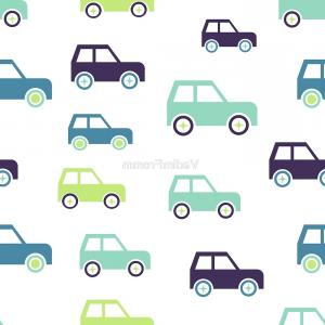 Demolition Derby Car Silhouette Vector: Vector Cute Toy Cars Pattern