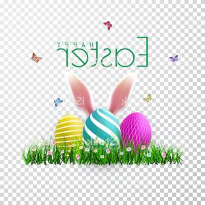 Easter Vector No Background: Awesome Cute Red Rabbit With Easter Eggs On White Background U Stock Photo Picture For Inspiration And Popular