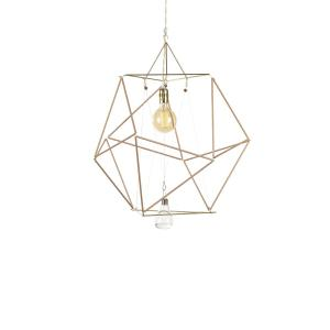 Vector Equilibrium Cuboctahedron: Vector Equilibrium Wood Sticks Modular Lamp System By Nicolas Brevers For Gobo Lights