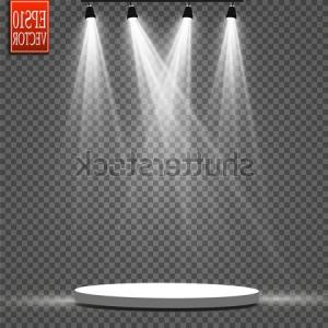 SU Podium Logo Vector: Vector Floodlights Scene Light Effects Podium