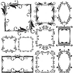 Free Vector Download Sites: Free Vector Art Fancy Vintage Borders