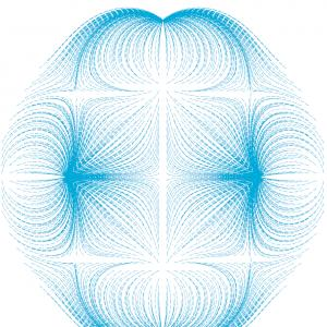 3D Graph Vector Field: Vector Icon Set Magnifier Graph