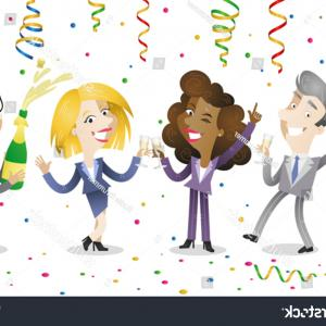 Happy Workplace Anniversary Vector: Year Happy Birthday Greeting Card Th Anniversary Celebrati Celebration Template Twenty Five Number Festive Piece Cake Image