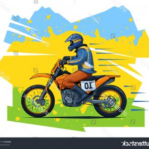 Dirt Bike Gas Can Vector: Extreme Motorbike Rider Silhouettes Vector Illustration
