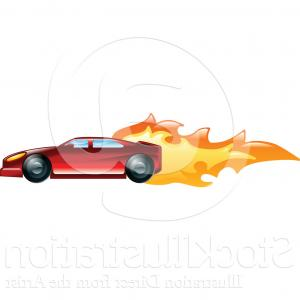 Car Flame Vectors EPS: Automotive Speed Car With Flame Logo Vector