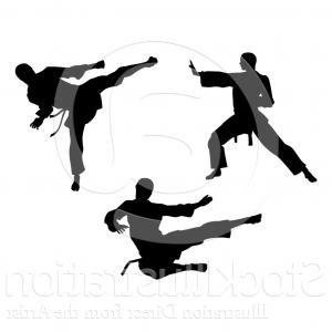 Karate Vector: Stock Illustration Martial Arts Karate High Kick