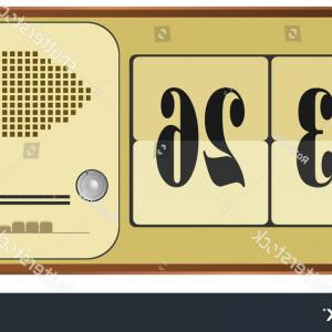 Old Floor Clock Vector: Alarm Clock With Hot Coffee Mugs And Coffee Beans Vector