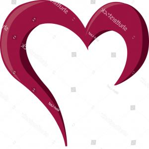 I Love You Mark Vector: Vector Illustration Pink Heart Question Mark
