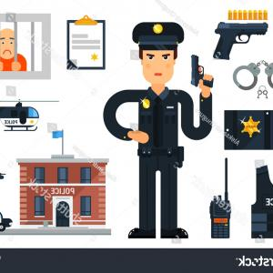 Vector Police Department: Photostock Vector Police Station Building Icon Vector Police Linear Symbol Police Department Outline Sign