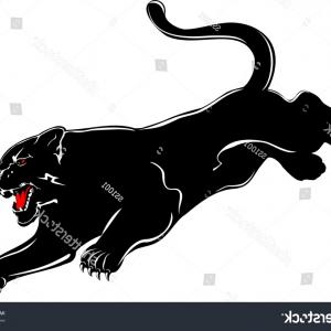 Panther Silhouette Vector: Black Panther Svg Clipart Cut Files