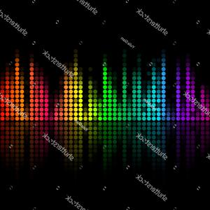 Gifs Bar Equalizer Vector Illustration: Vector Music Volume Abstract Background