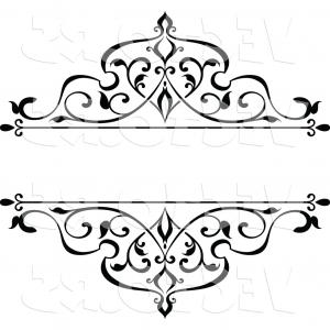 Ornamental Box Design Vector: Vector Of Black And White Ornate Vintage Floral Frame Design Element With Text Space By Vector Tradition Sm