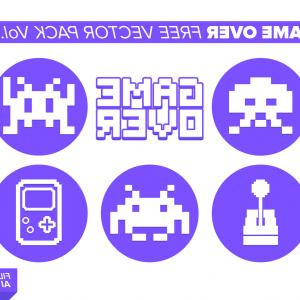 Vector Purple Sprite: Vector Pixel Art Colorful Blocks Seamless Pattern