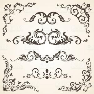 Floral Vector Calligraphy: Floral Decor Text Dividers Gm