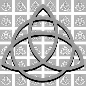 Triquetra Vector Black And White: Vector Set Of Wiccan Symbols And Icons Isolated On White Backgrounds Pagan Gm