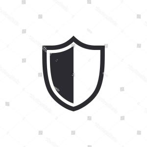White Shield Vector: Shield Icon On A White Background Singleseries Gm